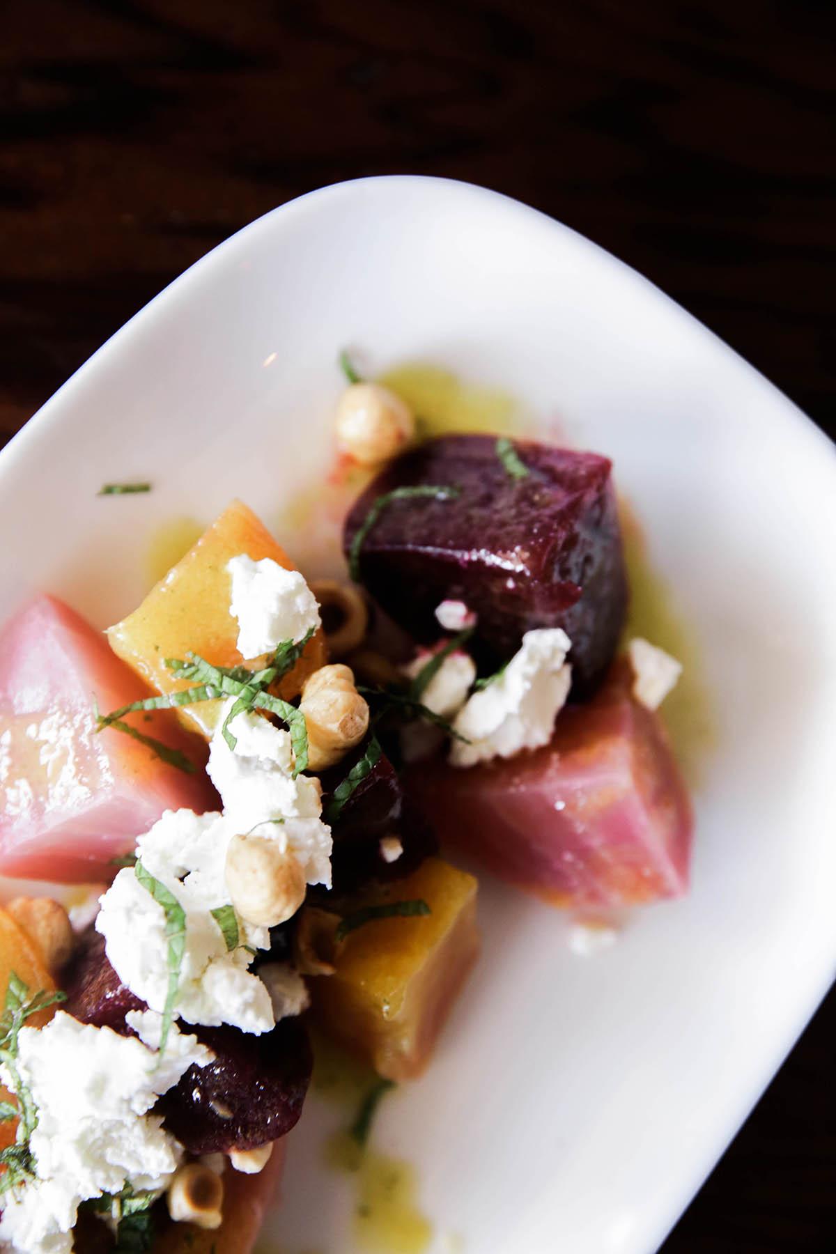 beet salad at Guerneville restaurants boon eat + drink