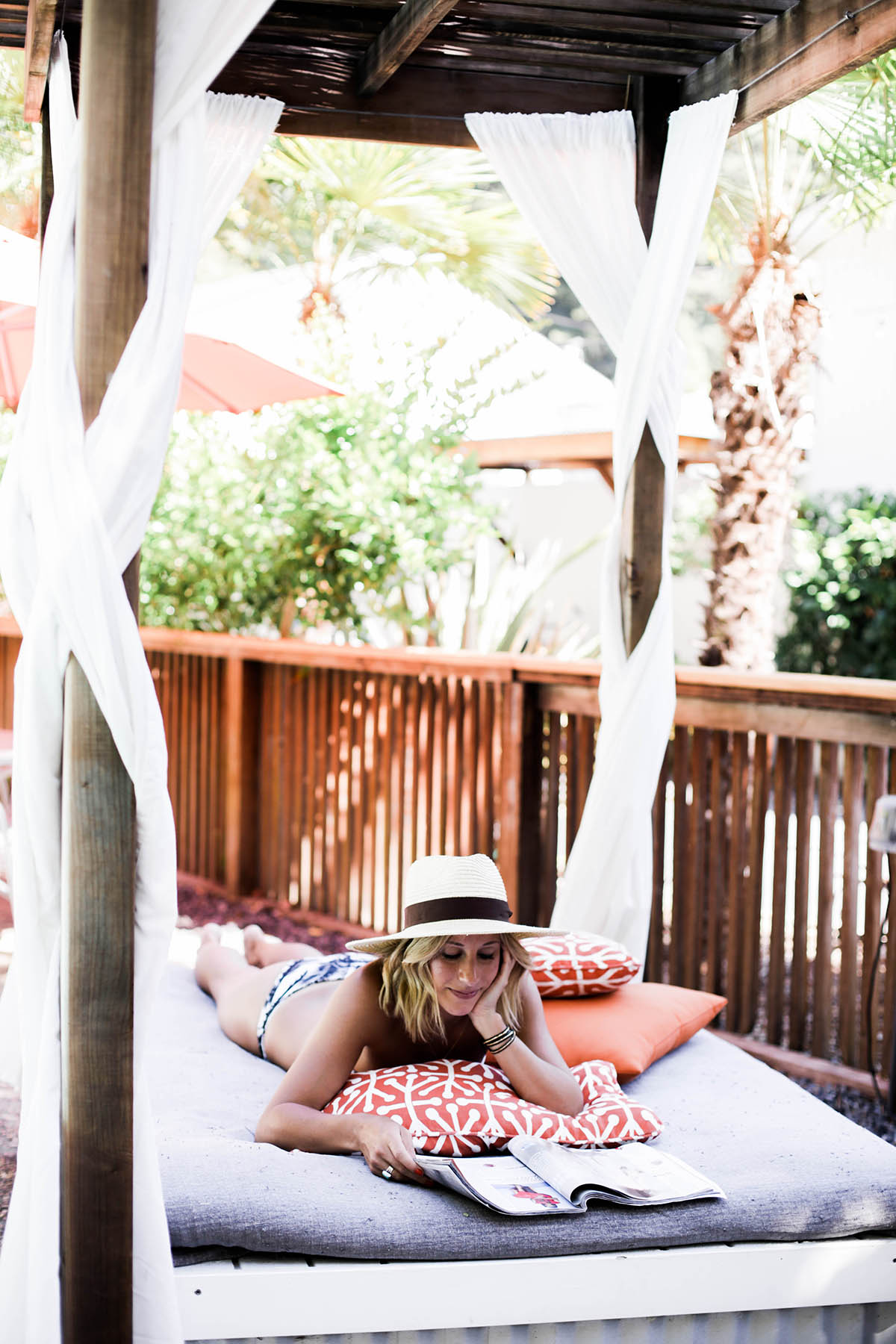 lounging by the pool at boon hotel + spa guerneville