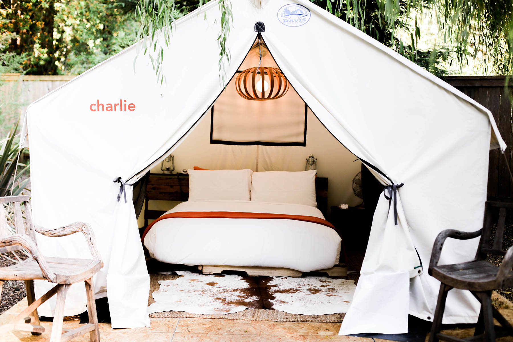 glamping tents at boon hotel + spa guerneville