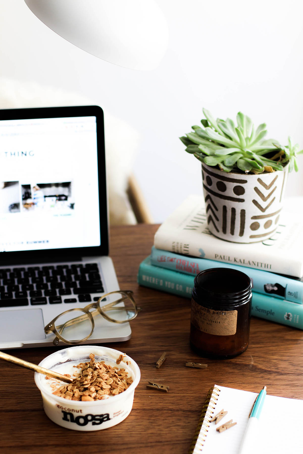 bohemian office decor & healthy snacks for the work