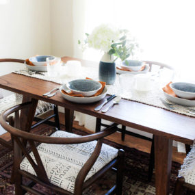 Bohemian Dining Room Reveal