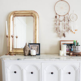 DIY Antique Console Makeover