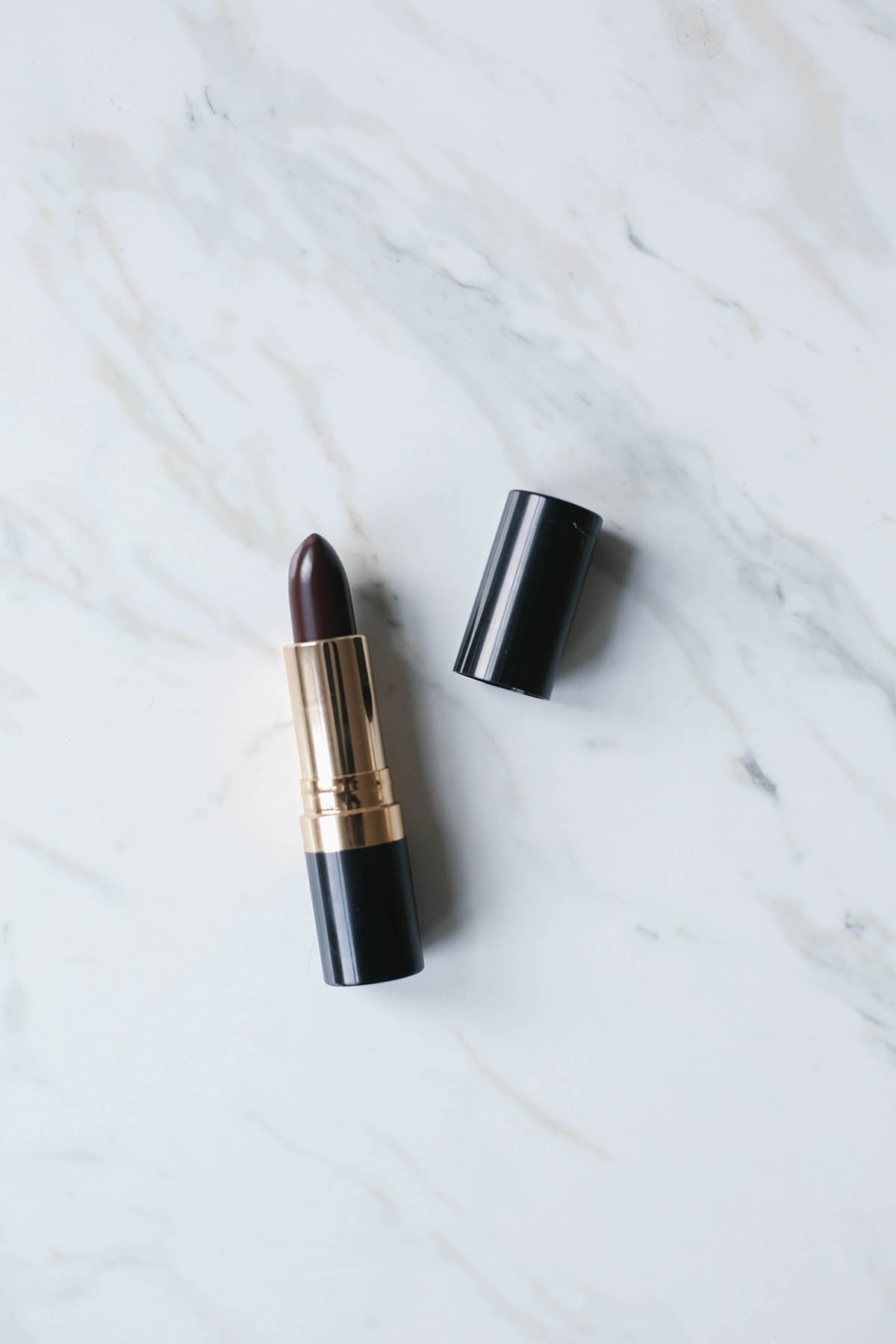revlon lipstick in black cherry drugstore beauty producys