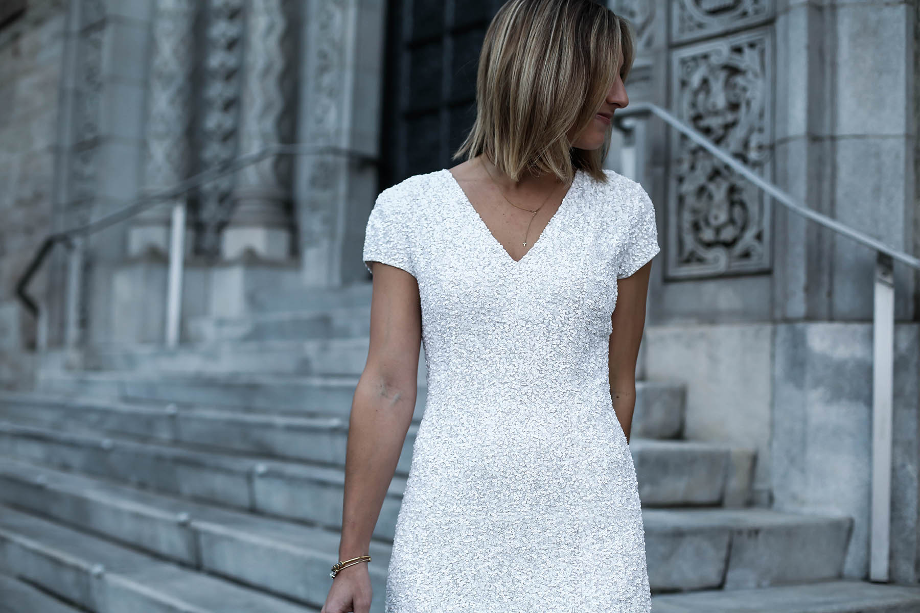 white sequin dress new year's eve