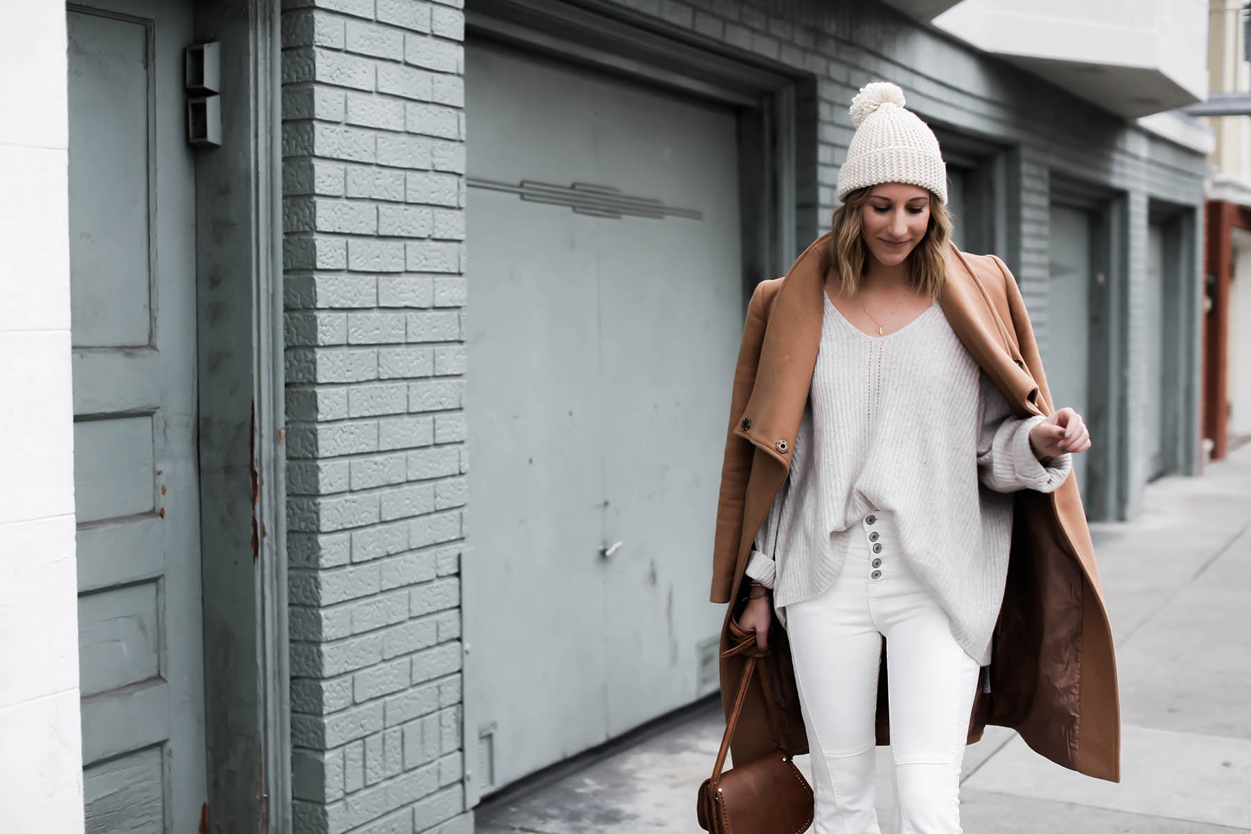 White Flare Jeans for Winter