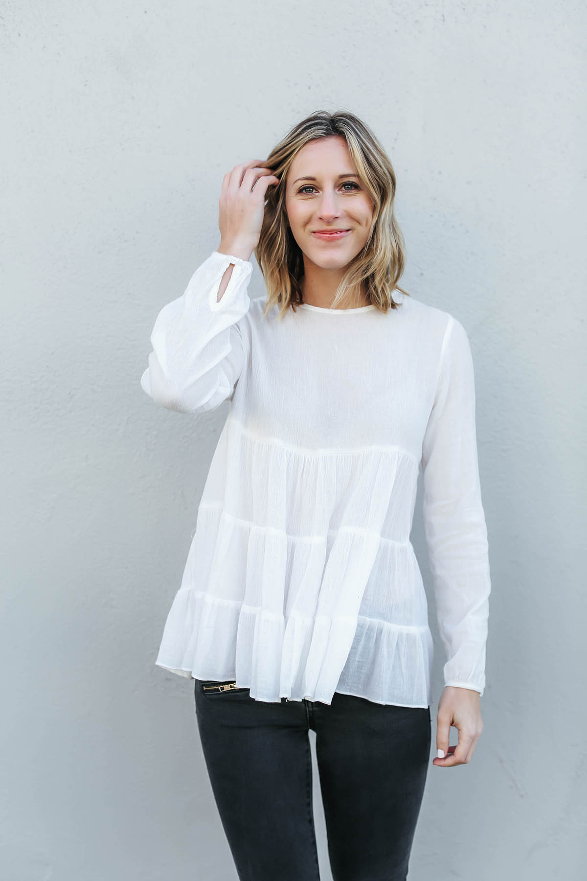 sincerely jules white blouse