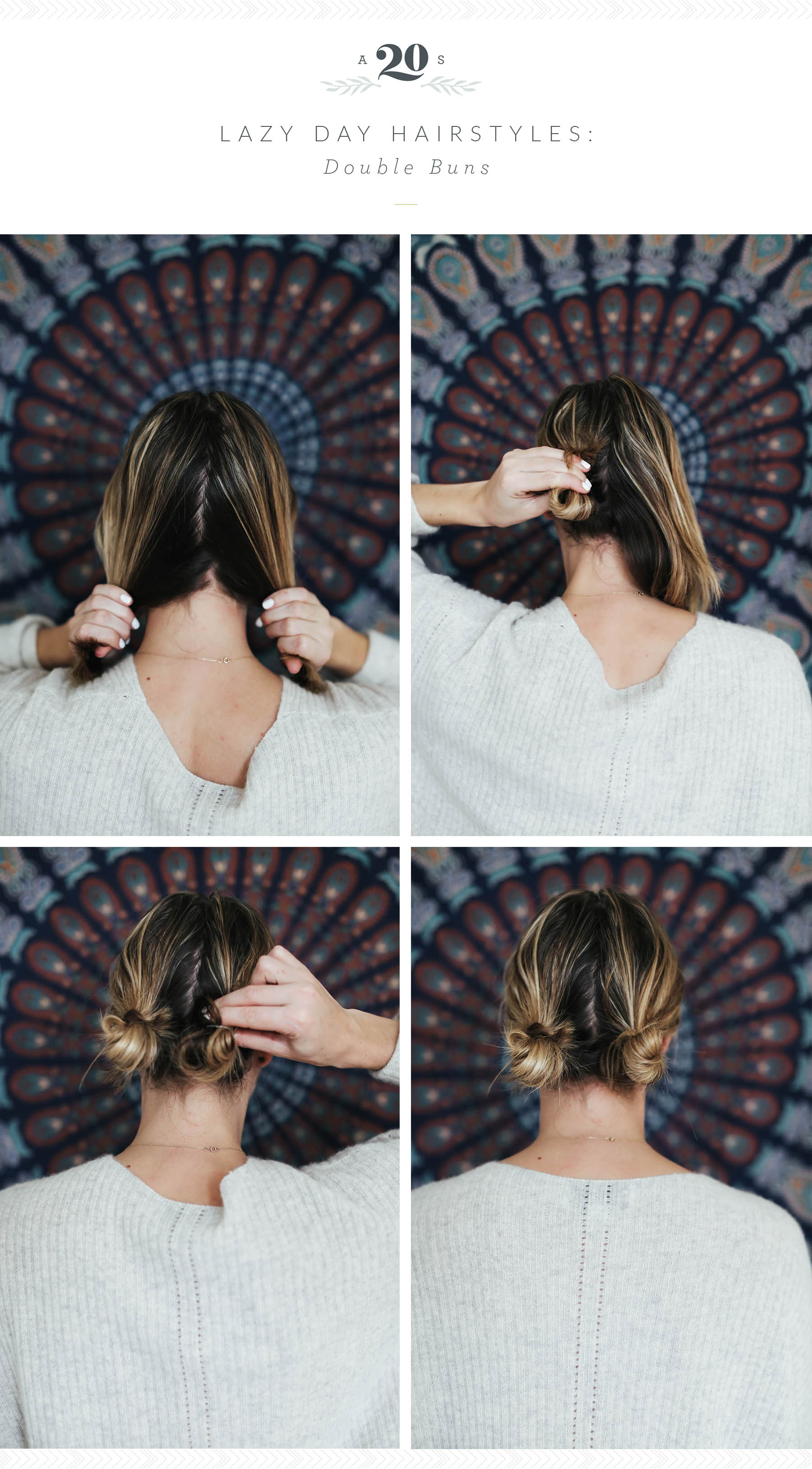 3 Easy Hairstyles For Lazy Days Advice From A Twenty Something