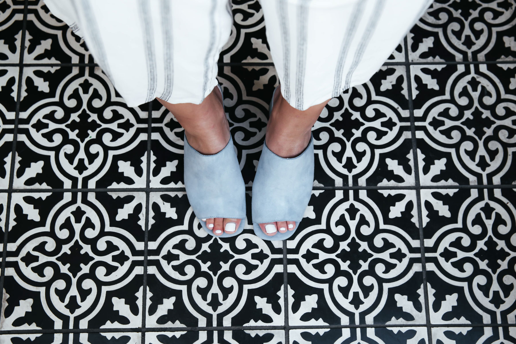 mexican tile and jeffrey campbell mules
