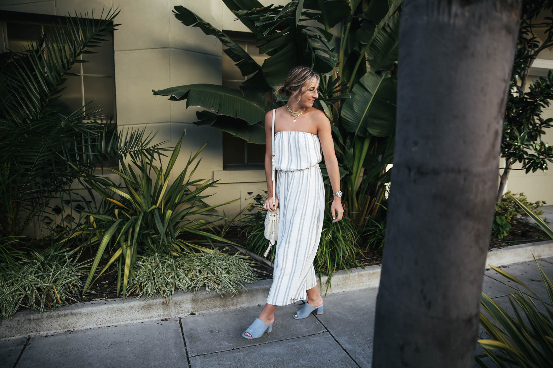 urban outfitters jumpsuit for happy hour at Flores