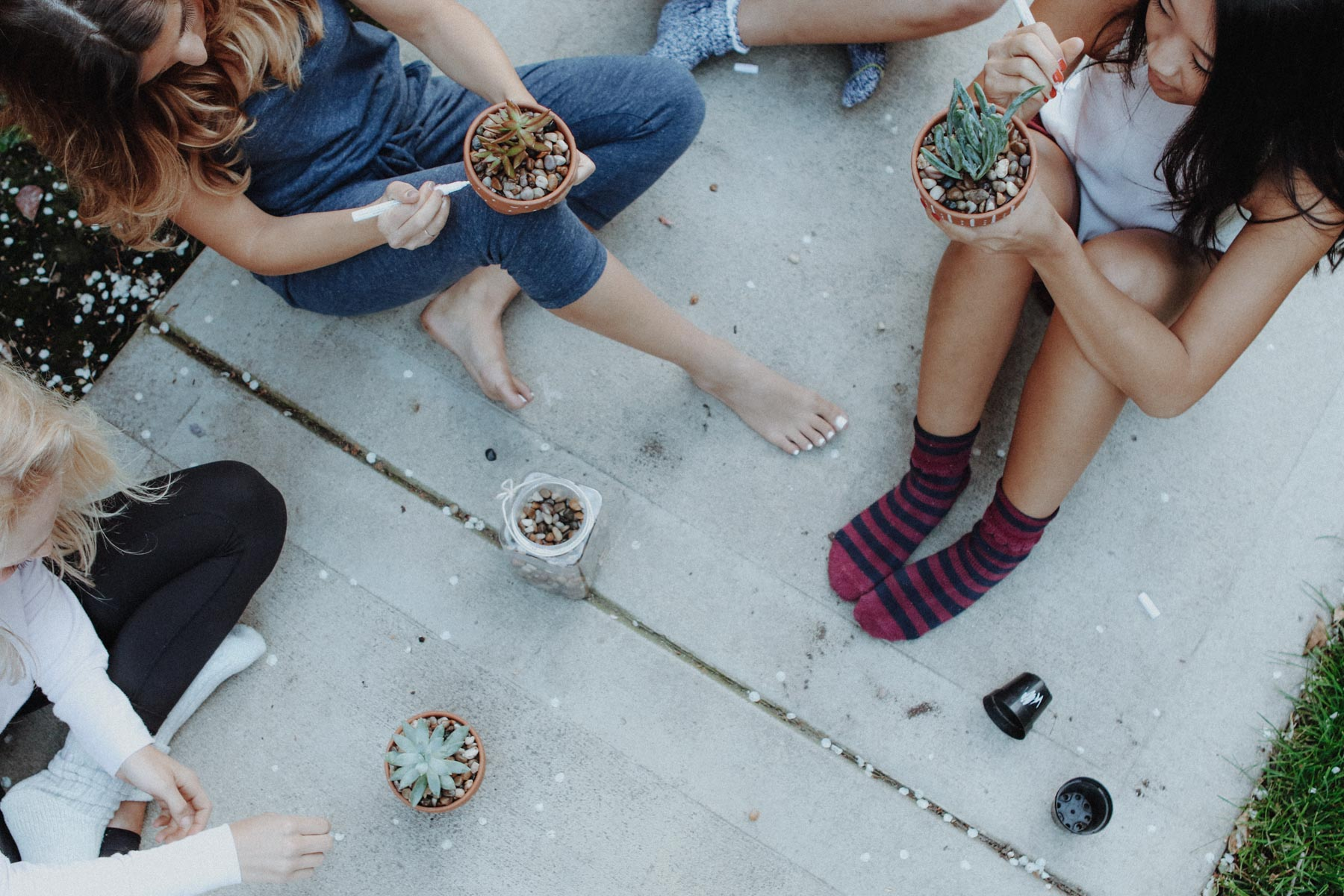 girls night in DIY succulent pots