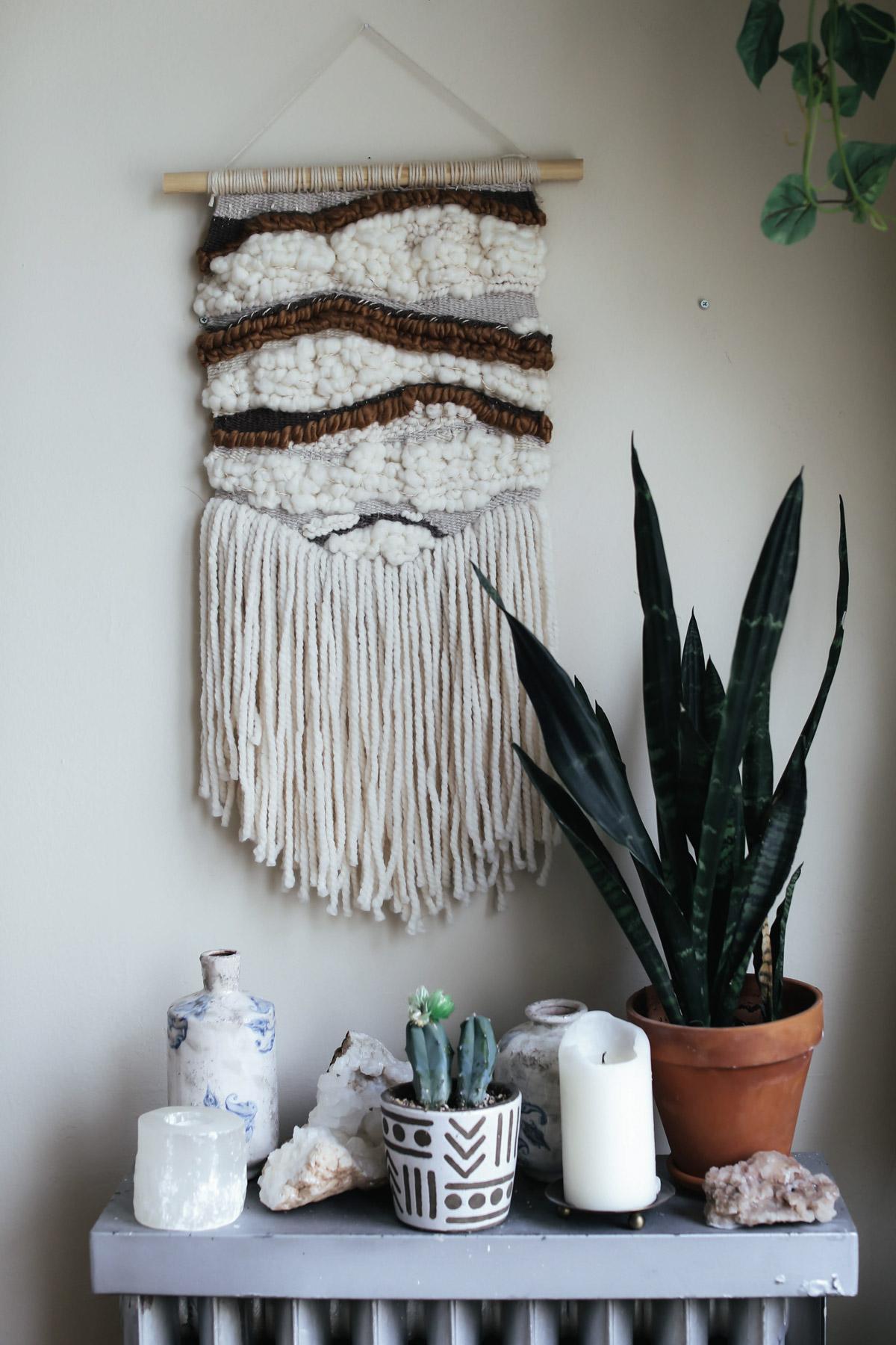 fiber art woven wall hanging