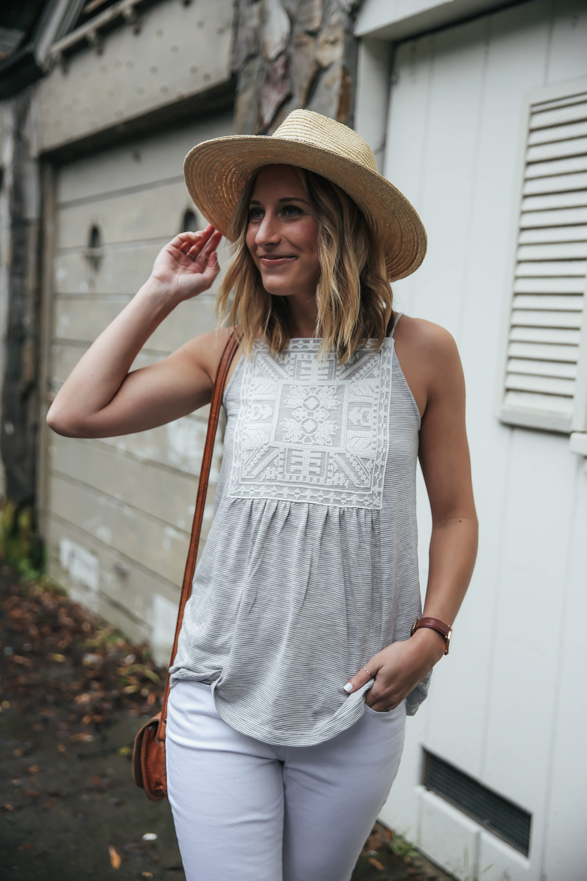 Amanda Holstein in Old Navy top