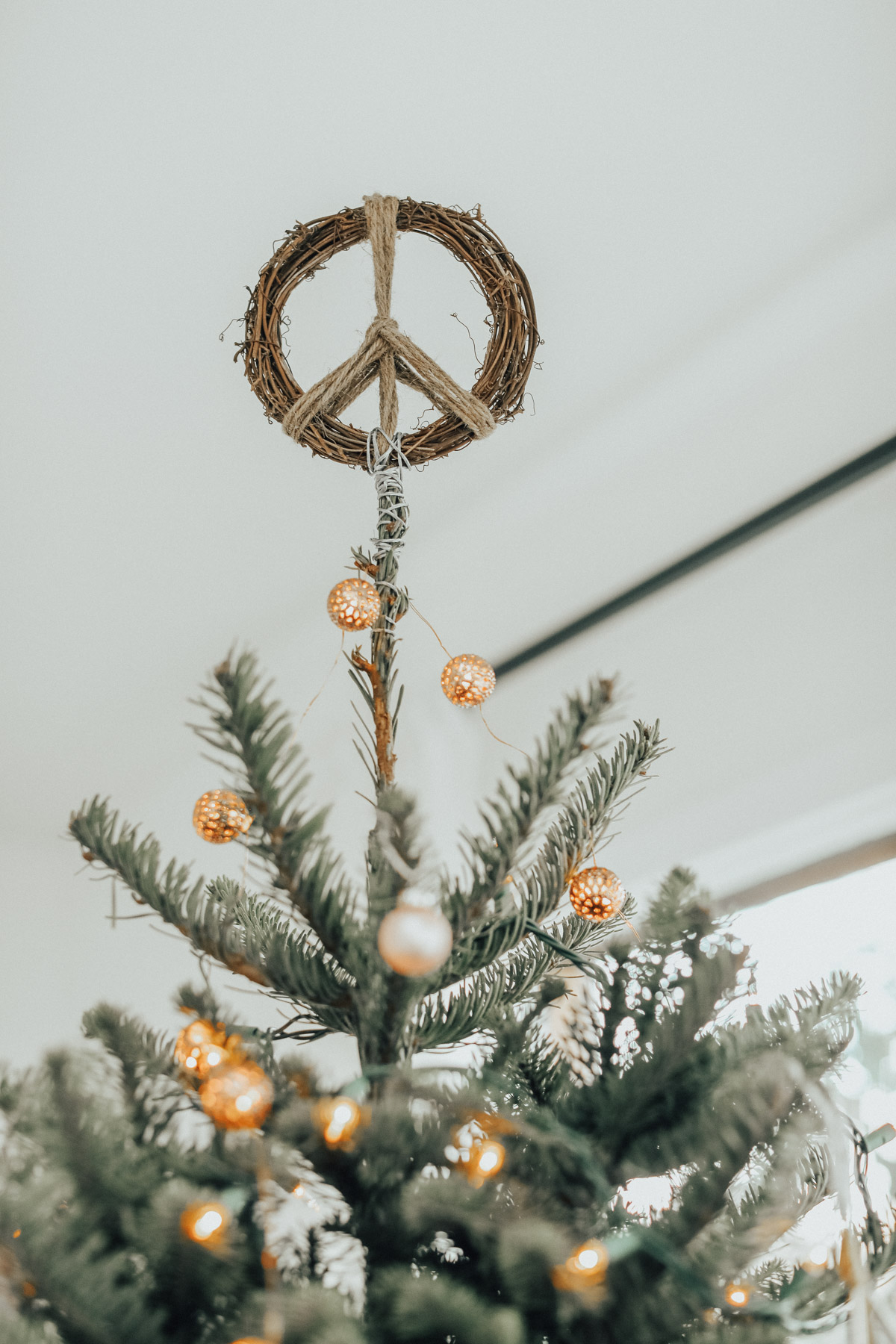 Peace Christmas Tree Topper.How To Decorate A Bohemian Christmas Tree Advice From A