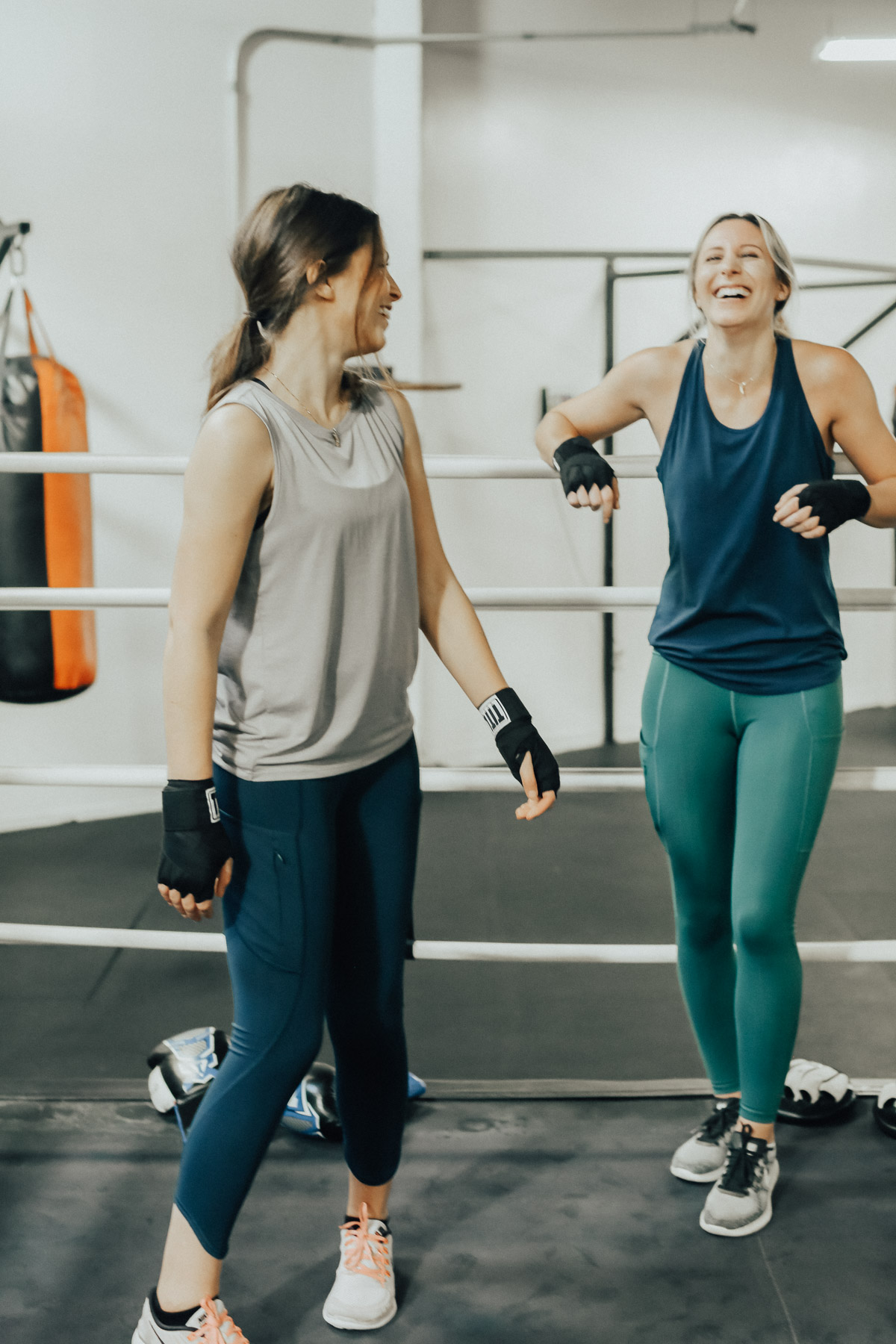 new workout class boxing in Athleta