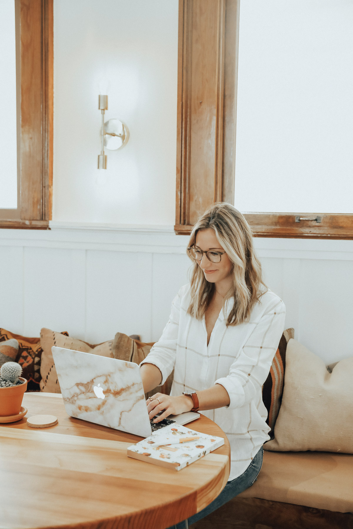 freelance blogger working at the Assembly co-working space
