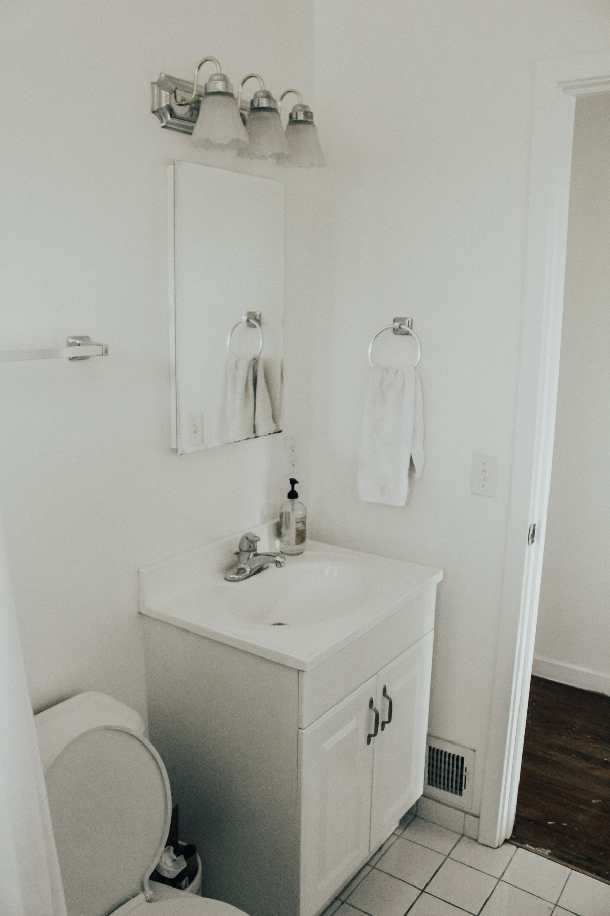 rental bathroom makeover before and after DIY