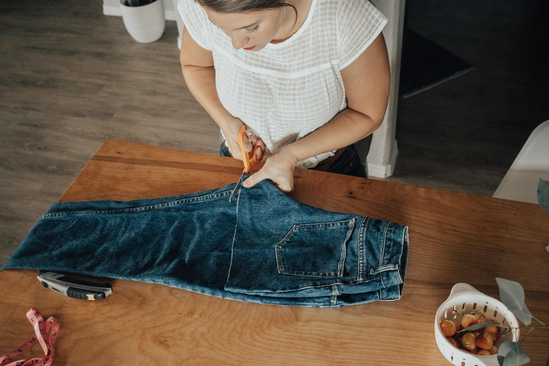 How to Make High Waisted Denim Shorts