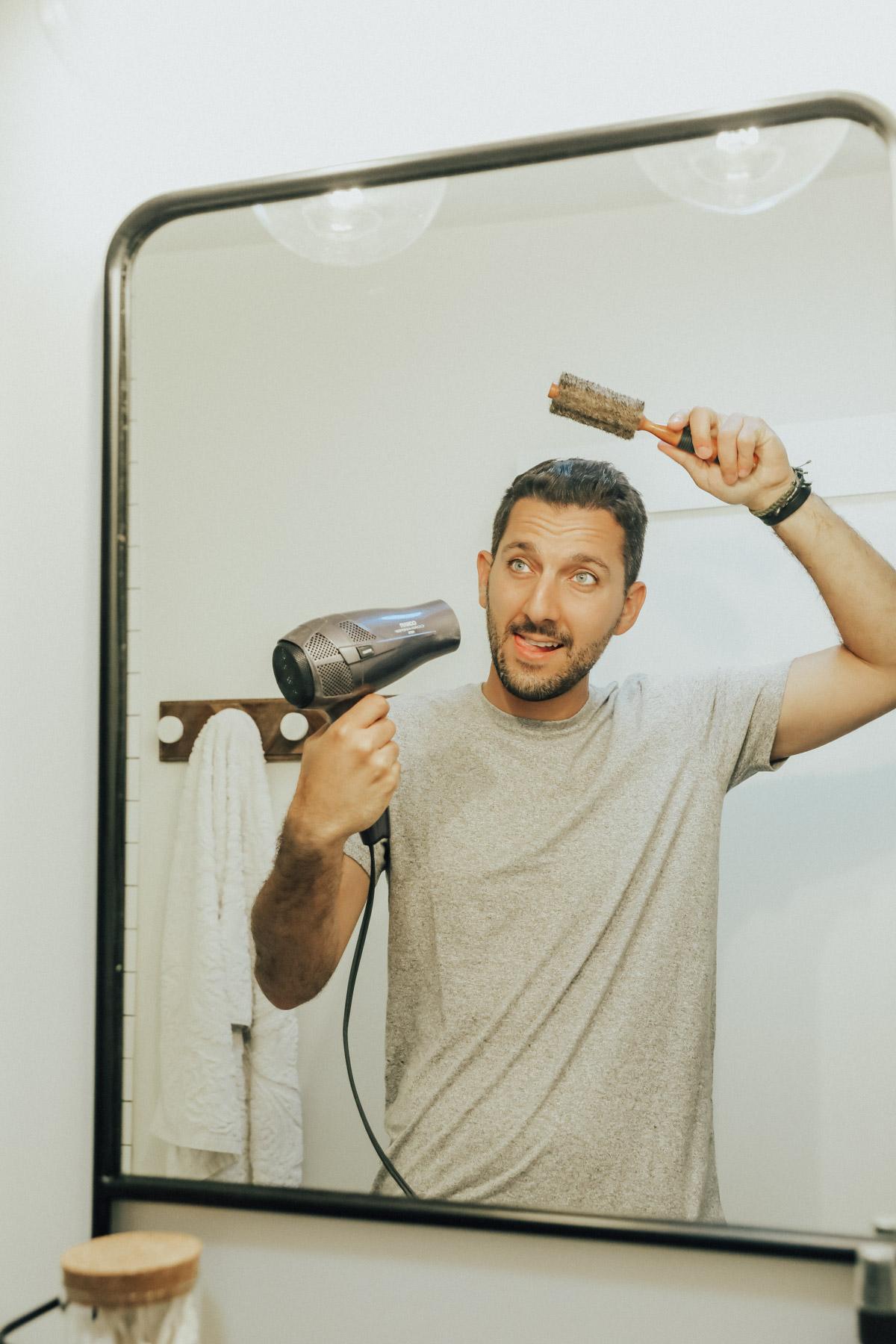 men's grooming self-care hair dryer