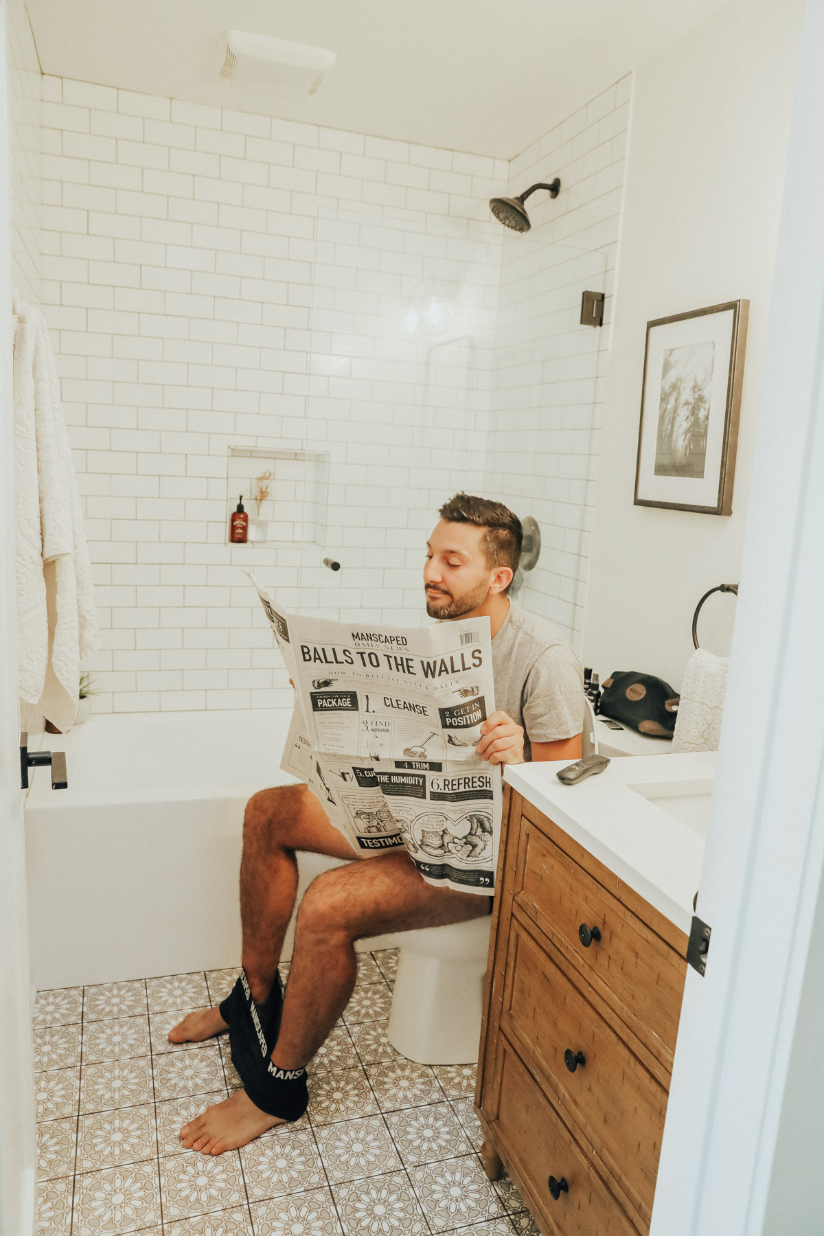 My Boyfriend Tried My Self-Care Routine for a Day