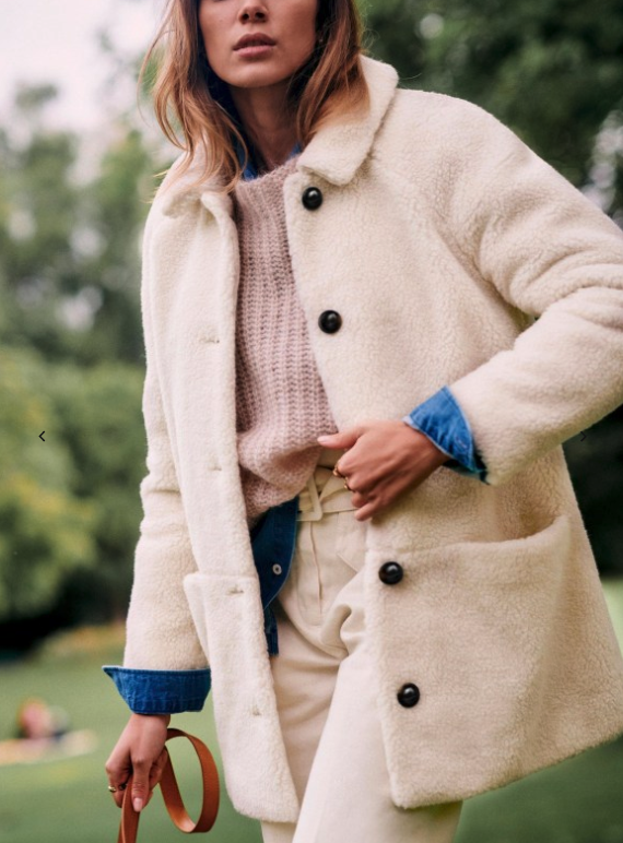 Sezane teddy coat