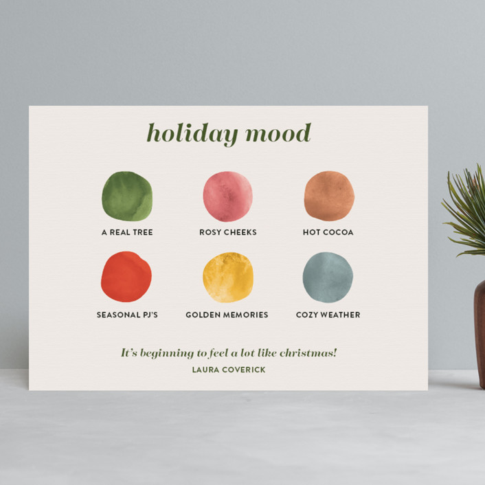 colorful holiday card